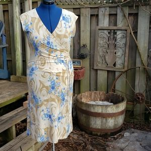 Sirens -  beige and blue dress L